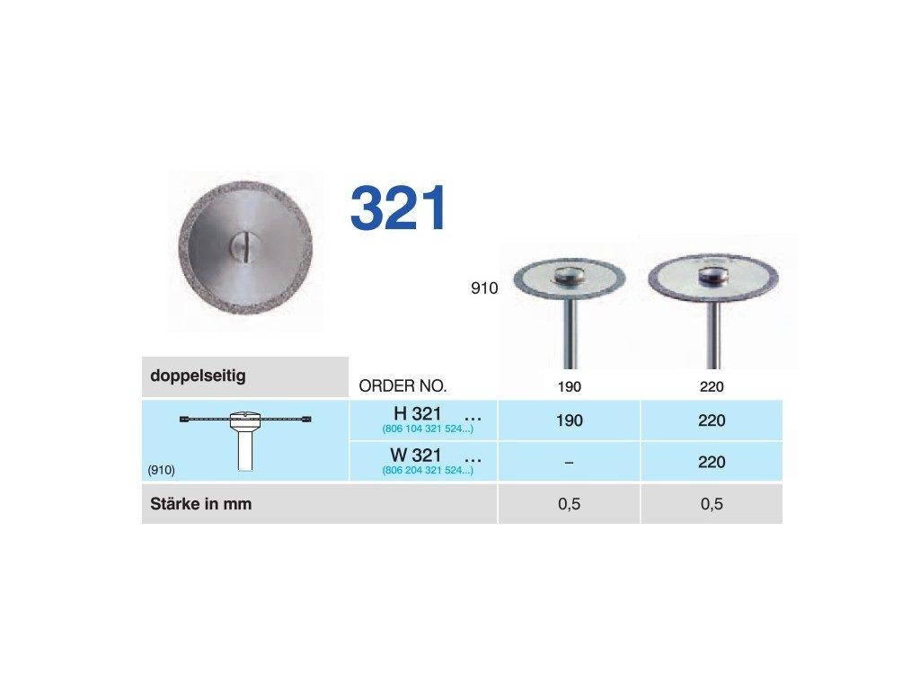 64125 diamantovy disk oboustranne sypany w321 prumer 2 2cm normal