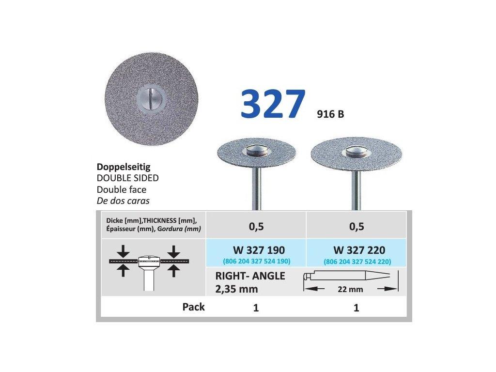 64128 diamantovy disk oboustranne sypany w327 prumer 1 9cm normal