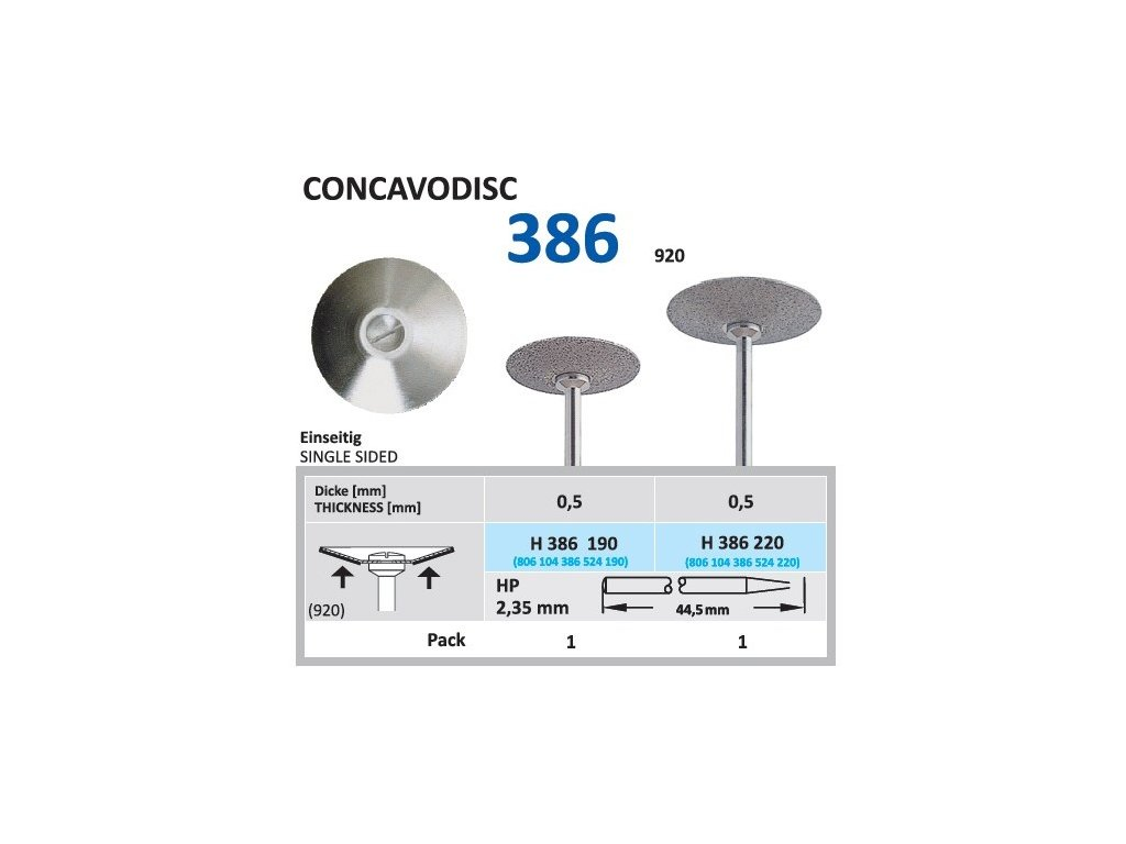 61479 diamantovy disk concavodisc sypany ze spodu h386 2 2cm normal