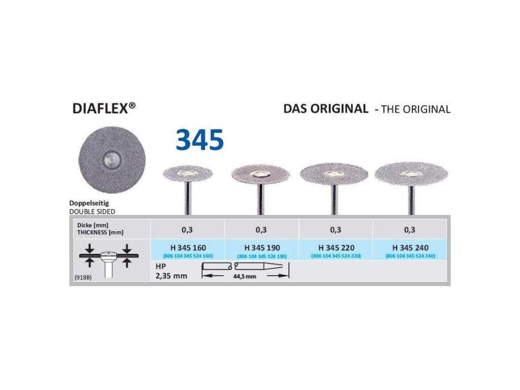 61236 diamantovy disk diaflex oboustranne sypany h345 1 6cm normal