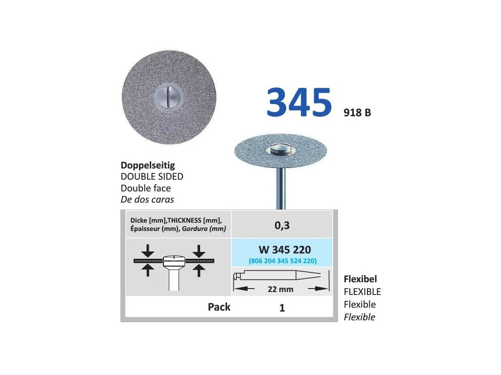 64149 diamantovy disk diaflex oboustranne sypany w345 2 2cm normal
