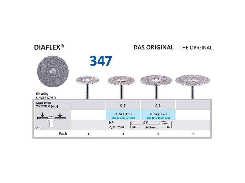 61260 diamantovy disk diaflex sypany shora h347 2 2cm normal