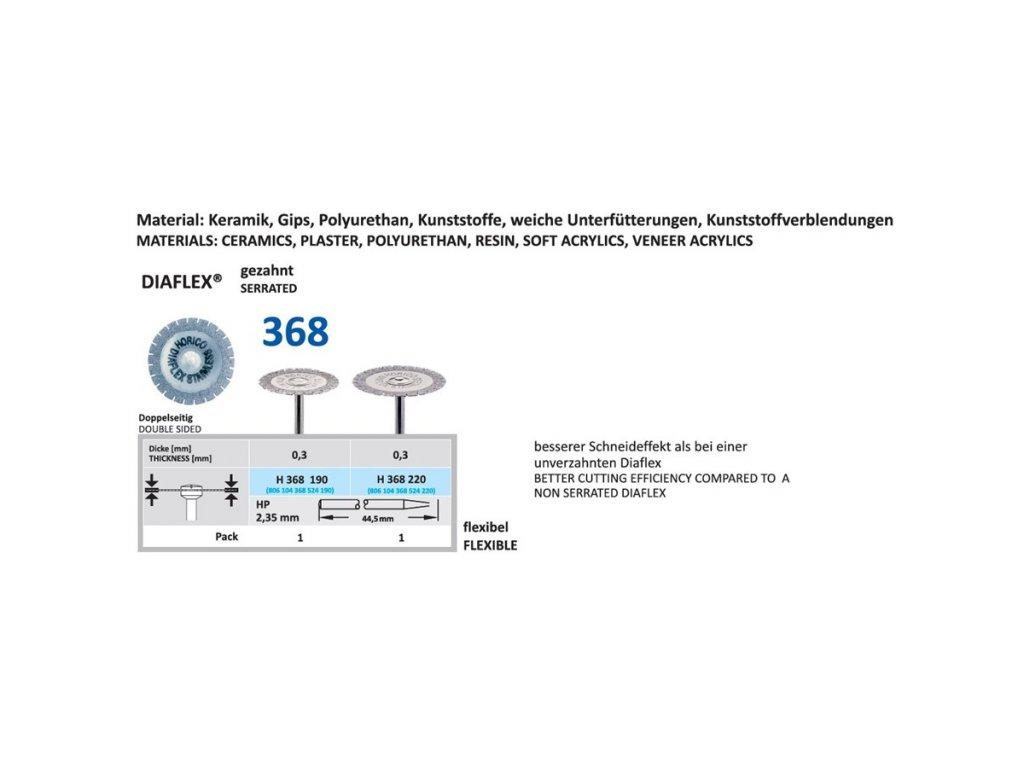 61473 diamantovy disk diaflex gezahnt oboustranne sypany h368 2 2cm normal