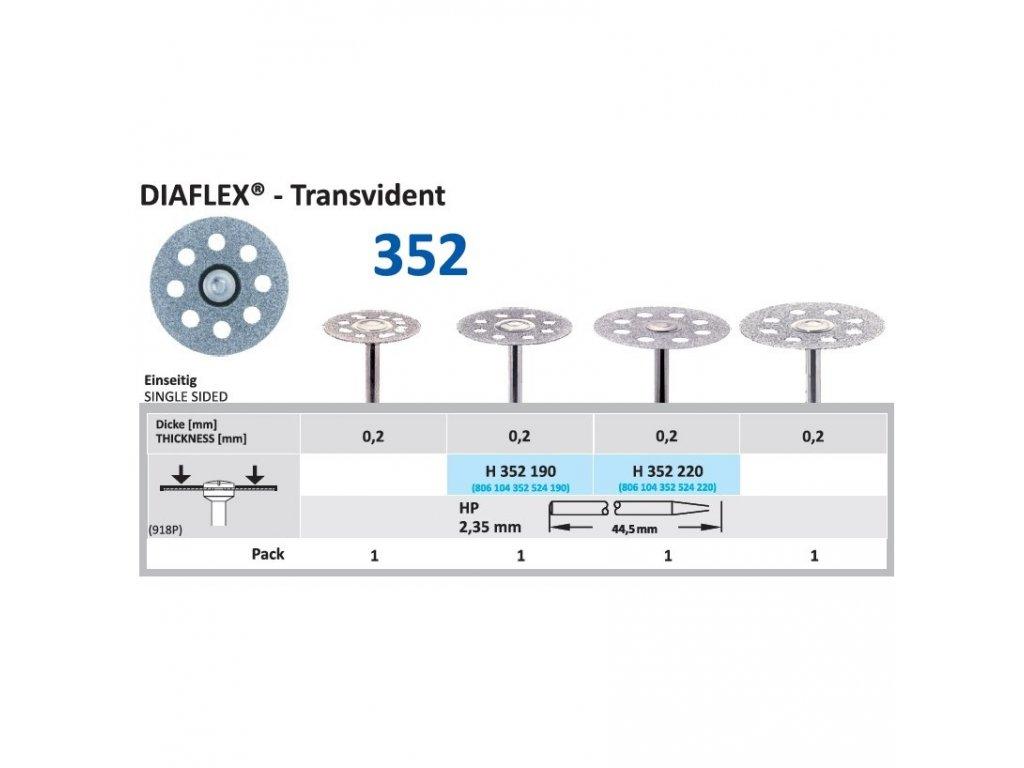61293 diamantovy disk diaflex transvident sypany shora 2 2cm normal