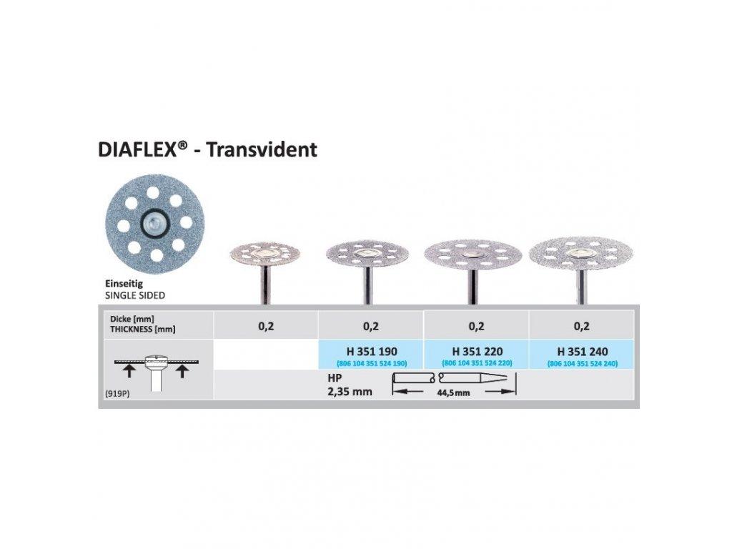 61281 diamantovy disk diaflex transvident sypany ze spodu 2 2cm normal