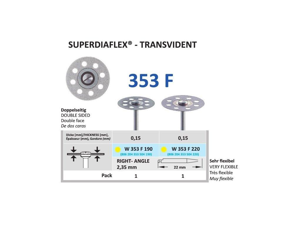 64155 diamantovy disk superdiaflex transvident oboustranne sypany 1 9cm extra jemna