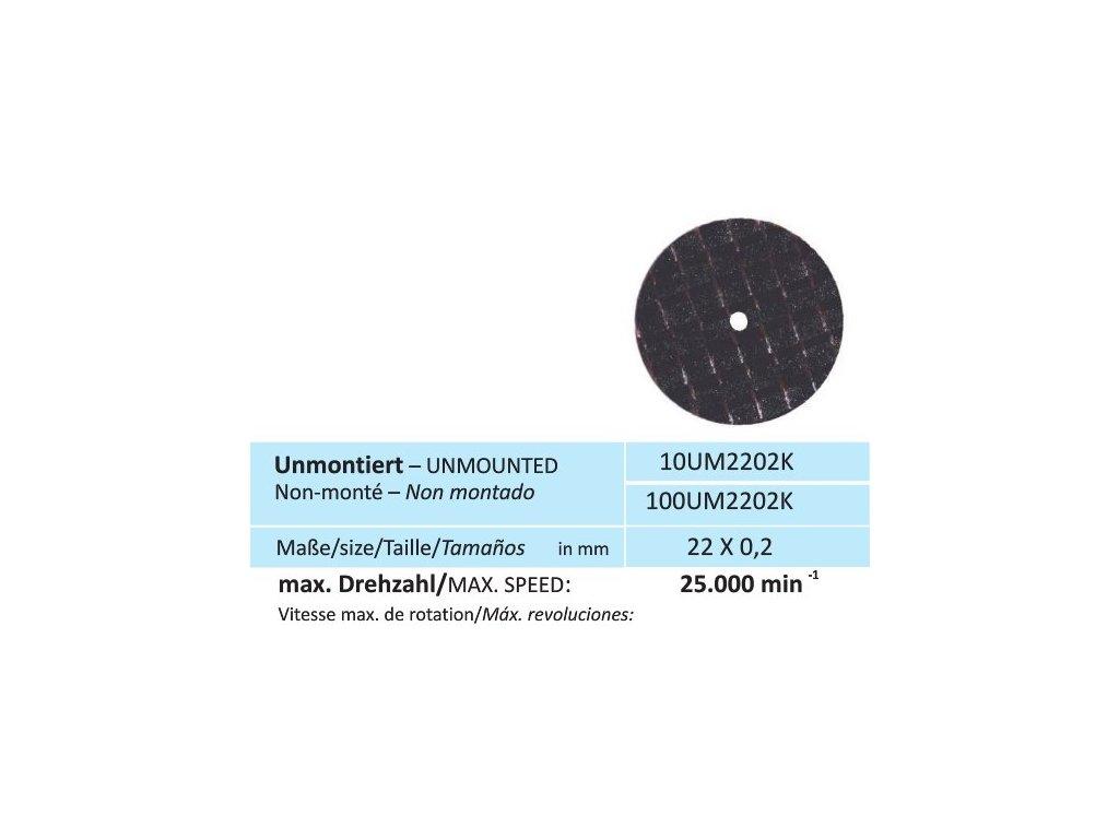 819 disk na keramiku velikost 22 x 0 2 mm