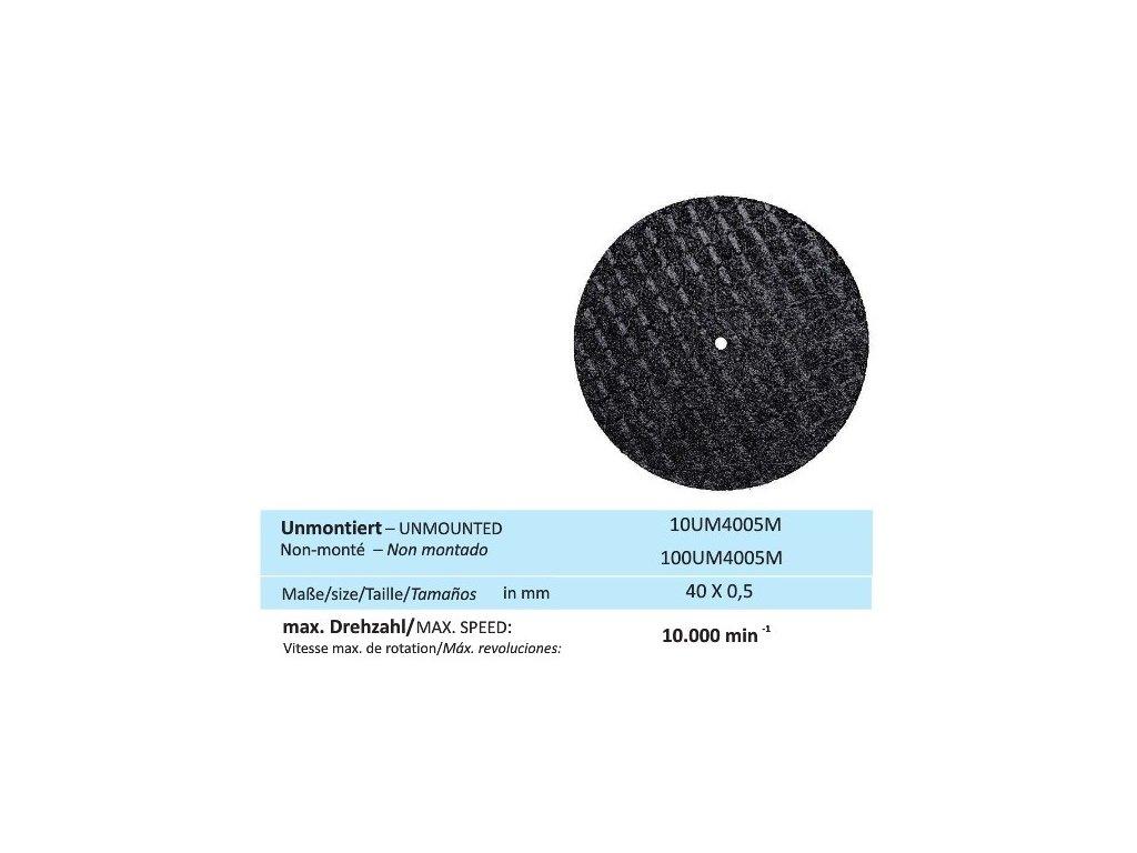 831 disk na kovy velikost 40 x 0 5 mm