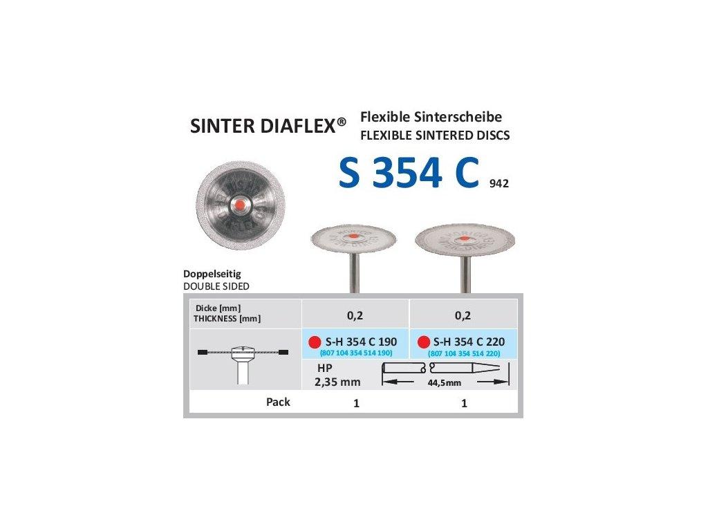 63078 disk ze sintrovanych diamantu oboustranne sypany sh354 1 9cm jemna