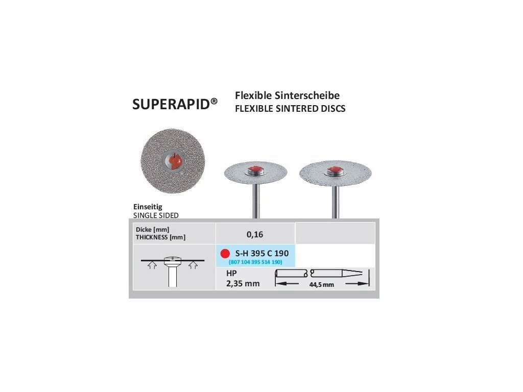 63096 disk ze sintrovanych diamantu sypany ze spodu sh395 c prumer 1 9cm zrnitost jemna