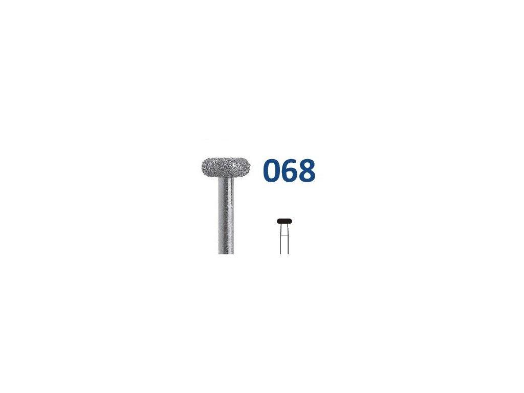 HORICO diamantový brousek - kolečko, H068 (Zrnitost normal, Pracovní část Průměr 3,7mm (037))