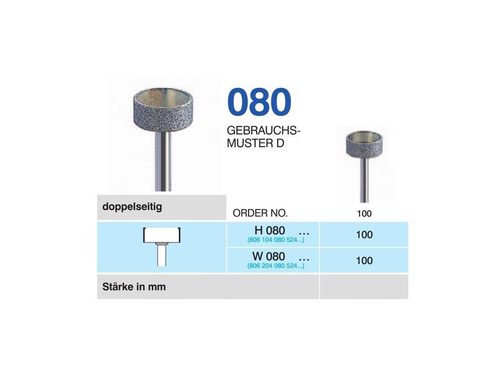 60759 horico diamantovy brousek kolecko h080 prumer 10mm normal doprodej poslednich kusu