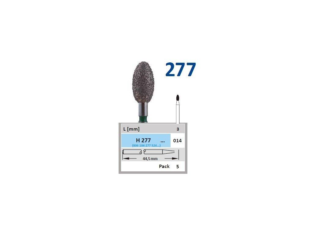 61119 horico diamantovy brousek vajicko h277 prumer 1 4mm zrnitost normal