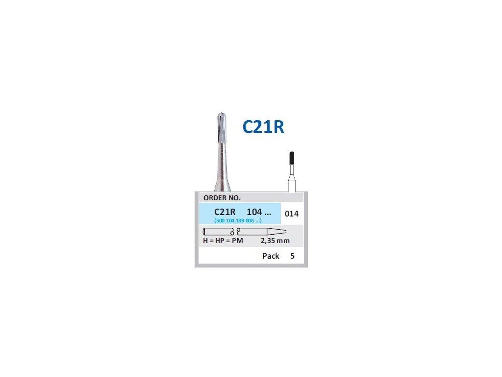 50322 horico tvrdokovovy vrtacek cylindr zakulaceny c21r104 prumer 1 4mm
