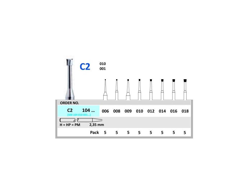 50196 horico tvrdokovovy vrtacek obraceny konus c2104 prumer 1 8mm