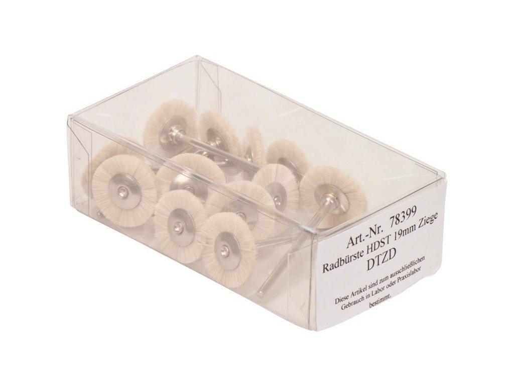 Kartáčky, kozí štětinky 19mm 12ks