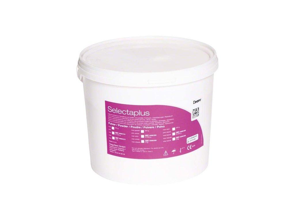 Selectaplus - pryskyřice pro protézy, prášek 3kg růžová žilkovaná
