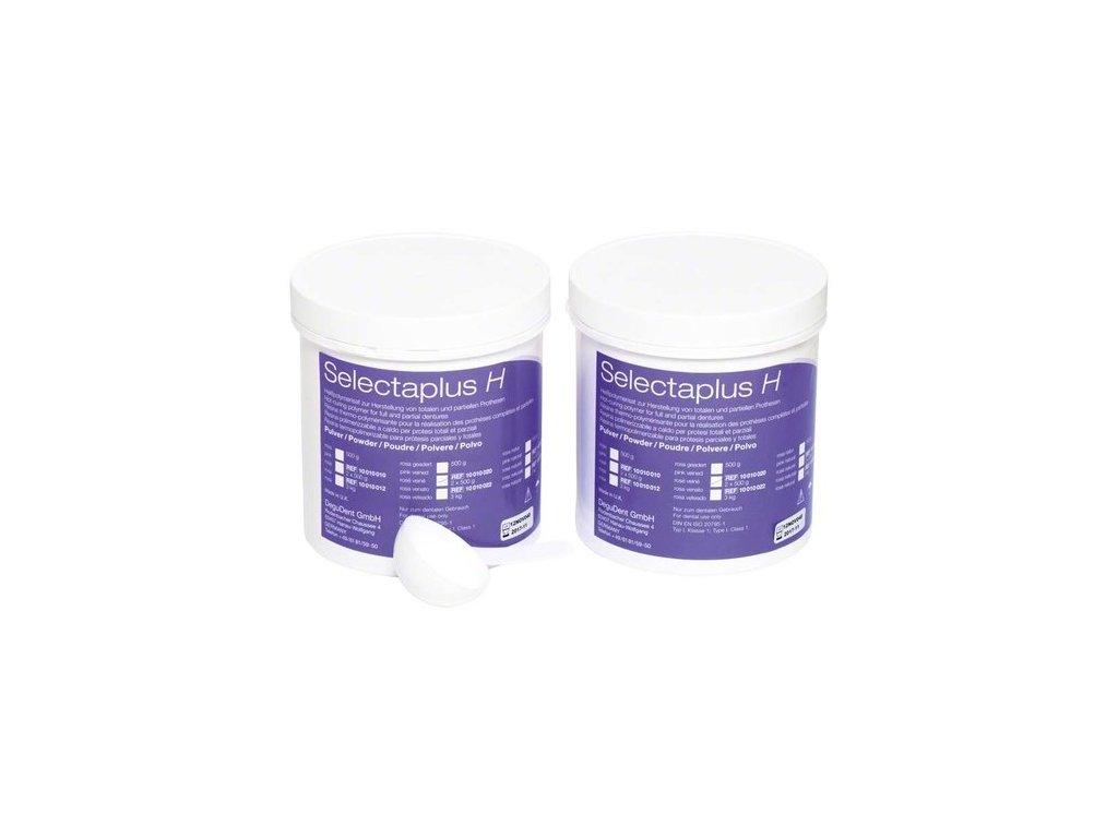 Selectaplus H - pryskyřice pro protézy, prášek 2x500g růžová, žilkovaná