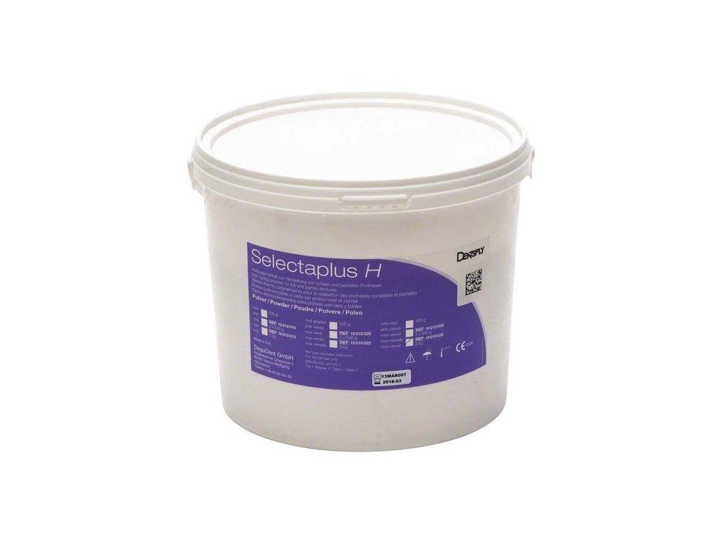 Selectaplus H - pryskyřice pro protézy, prášek 3kg růžová, natural