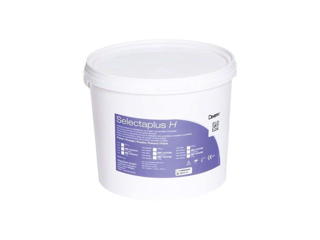 Selectaplus H - pryskyřice pro protézy, prášek 3kg růžová, žilkovaná