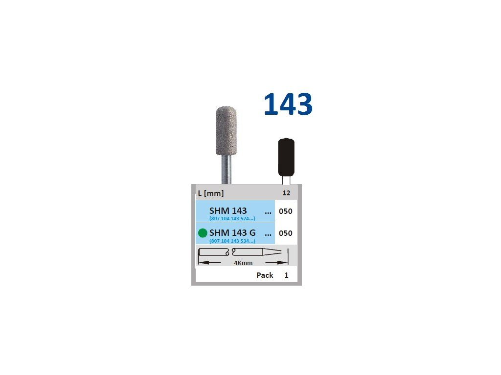 63171 sintrovany diamant cylindr zakulaceny shm143 prumer 8mm normal