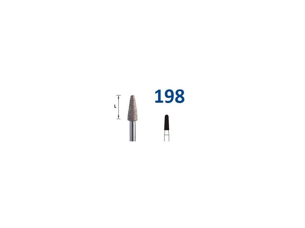 63210 sintrovany diamant konus zakulaceny shm198 prumer 3 7mm hruba
