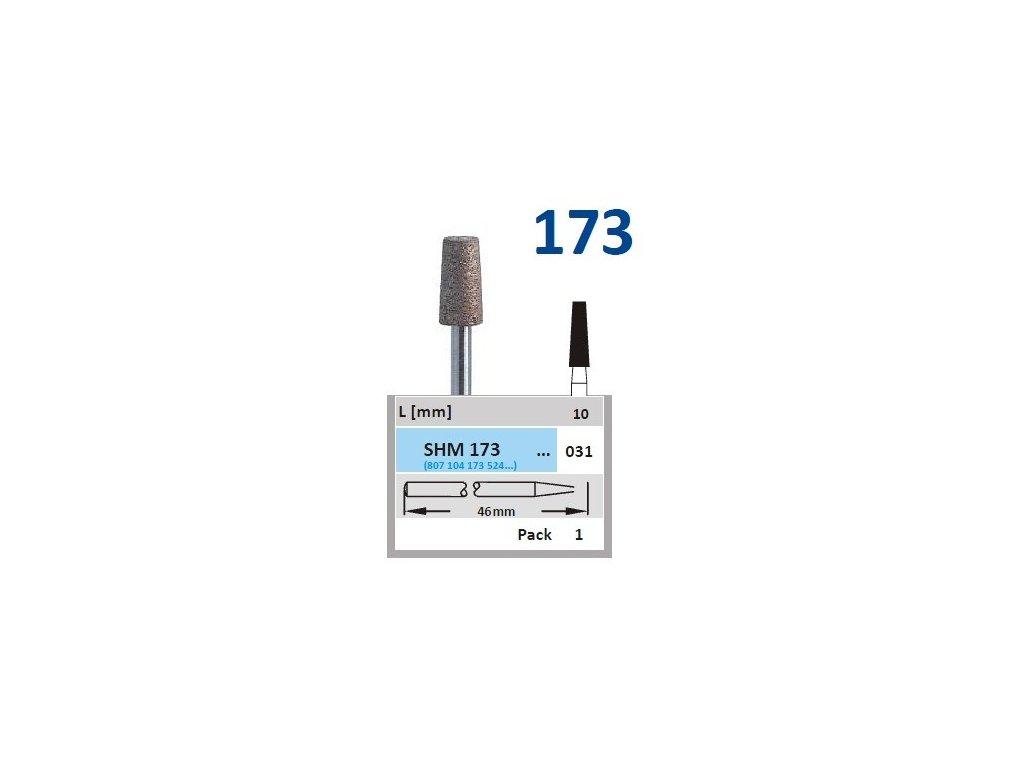 63201 sintrovany diamant konus shm173 prumer 3 1mm zrnitost normal