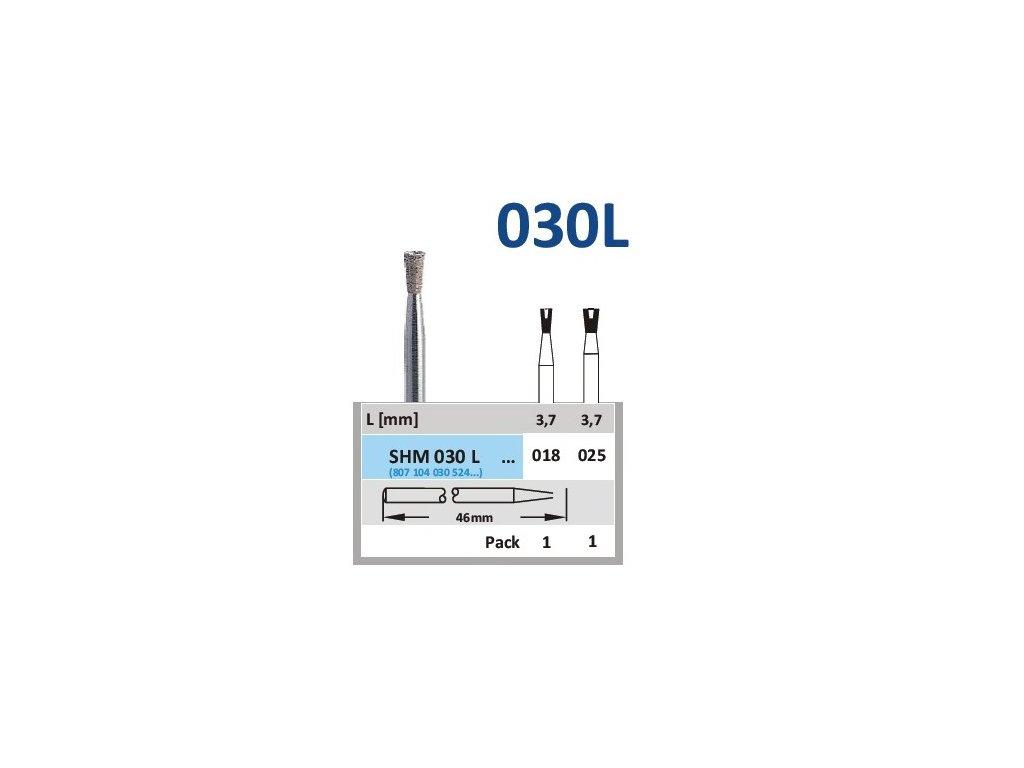 63144 sintrovany diamant obraceny konus shm030l prumer 2 5mm normal