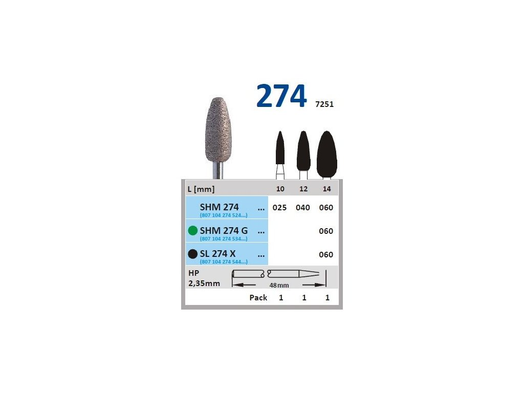 63252 sintrovany diamant vajicko shm274 prumer 4mm zrnitost normal
