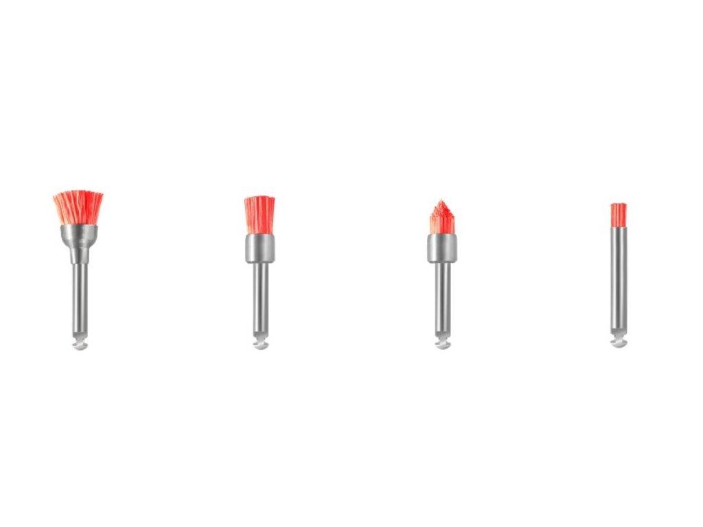 Profylaktické kartáčky - štětec, růžová, měkký, 10ks