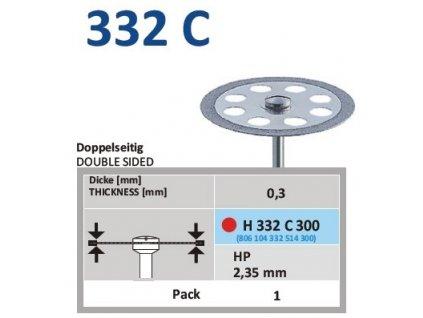 61194 diamantovy disk oboustranne sypany h332 prumer 3cm jemna