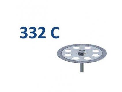 61197 diamantovy disk oboustranne sypany h332 prumer 4 5cm jemna