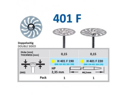 61482 diamantovy disk oboustranne sypany h401 prumer 1 9cm extra jemna
