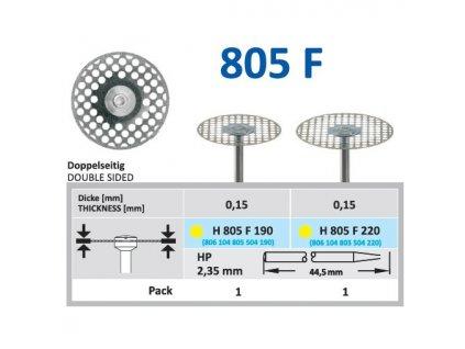61506 diamantovy disk oboustranne sypany h805 prumer 1 9cm extra jemna