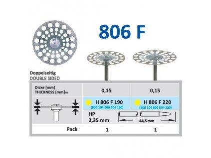 61512 diamantovy disk oboustranne sypany h806 prumer 1 9cm extra jemna