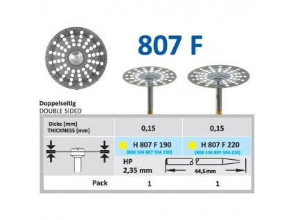 61521 diamantovy disk oboustranne sypany h807 prumer 2 2cm extra jemna