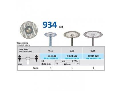 61527 diamantovy disk oboustranne sypany h934 prumer 1 4cm normal