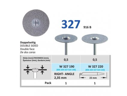 64131 diamantovy disk oboustranne sypany w327 prumer 2 2cm normal