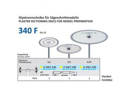 61230 diamantovy disk diaflex oboustranne sypany h340 3cm extra jemna