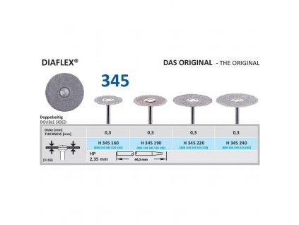 61245 diamantovy disk diaflex oboustranne sypany h345 2 2cm normal