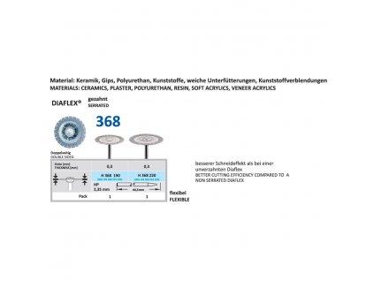 61470 diamantovy disk diaflex gezahnt oboustranne sypany h368 1 9cm normal