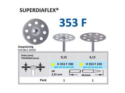 61308 diamantovy disk superdiaflex oboustranne sypany h353 2 2cm extra jemna