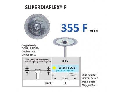 64164 diamantovy disk superdiaflex f oboustranne sypany w355 2 2cm extra jemna
