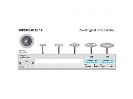 61371 diamantovy disk superdiaflex f sypany ze spodu 2 2cm extra jemna