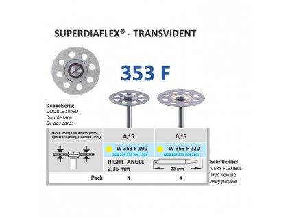 64158 diamantovy disk superdiaflex transvident oboustranne sypany 2 2cm extra jemna