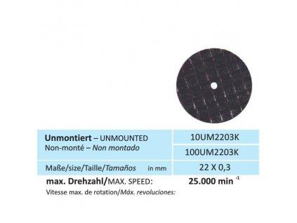 825 disk na keramiku velikost 22 x 0 3 mm