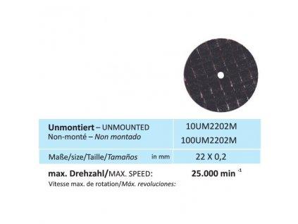 822 disk na kovy velikost 22 x 0 2 mm