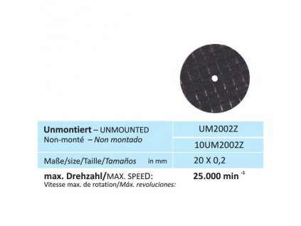 813 disk na zirkon velikost 20 x 0 2 mm