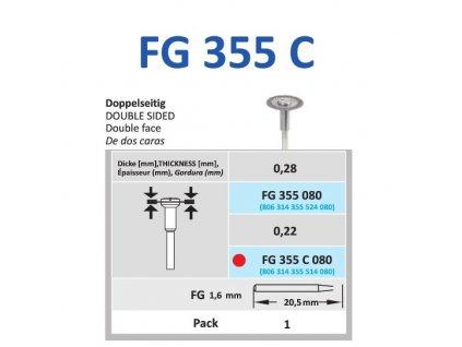 HORICO brousek diamantovaný - kulička, FG697 (Zrnitost normal, Pracovní část Průměr 8mm (080))