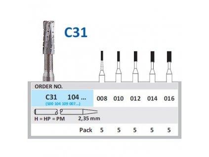 50595 horico tvrdokovovy vrtacek cylindr c31104 prumer 1 6mm